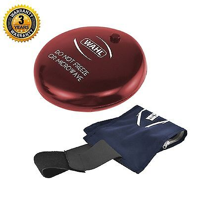Wahl ZX883 Deeply Penetrating Vibrating Hot Cold Gel Pack Massage Disc Red - New