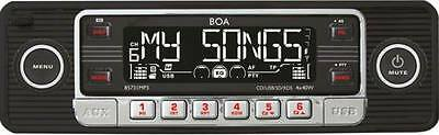 BOA 85731MP3; 1-DIN Car Radio for Youngtimer mit USB Port and SD Slot; Radio