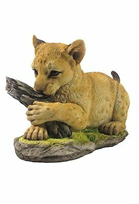 "8.5"" Lion Cub Statue Figurine Wild Animal Safari Sculpture Jungle Decor"