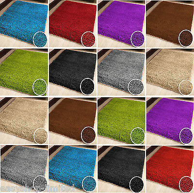Large Small Plain Shaggy Non Shaded Pile Rug Thick Flooring Stylish Carpet Rugs