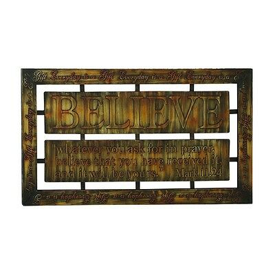 Benzara Decorative Durable Metal Wall Decor In Brown With Modern Design NEW