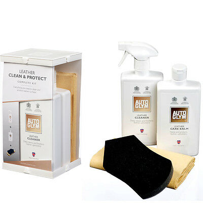 Brand New Autoglym Leather Clean & Protect Complete Kit LCPKIT