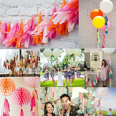 5pcs Wedding Decoration Bunting Party 2016 Balloon Tissue Paper Tassels Garland