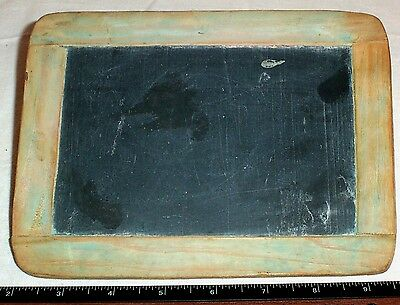 Antique Child's School Slate , Old One Room Schoolhouse ChalkBoard Primitive