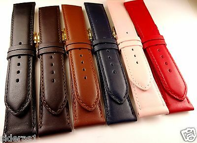 14Mm-16Mm-18Mm Short Ladys Leather Watch Band 6 Colors-Made In France