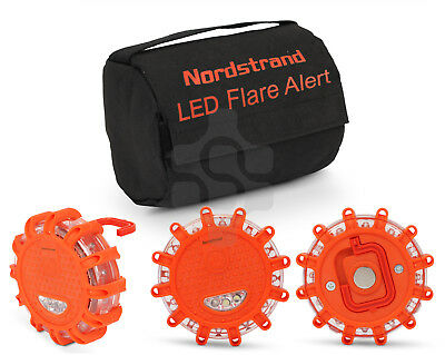 Nordstrand Magnetic Car Vehicle Breakdown Hazard Warning Flares Flash Light