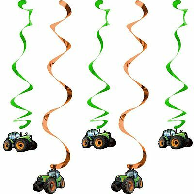 Children's Birthday Party - Tractor Time - 5 x Dizzy Dangler Hanging Decorations