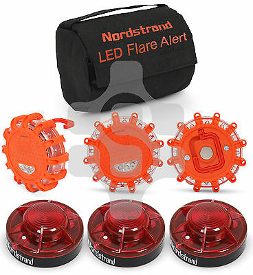 Nordstrand Set 3 Road Flare Flashing Emergency Signal Warning LED Light Beacon