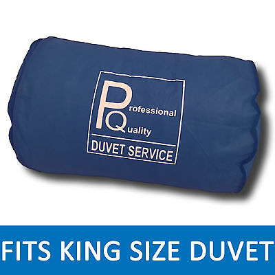 "Double / King Size Duvet - Storage Bag - 24""x20""- Professional Quality - NAVY"