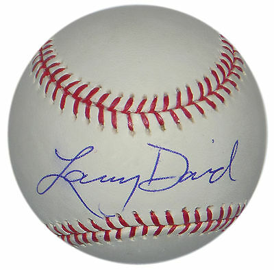 Larry David Signed Mlb Baseball Snl Bernie Sanders Seinfeld Curb Your Enthusiasm