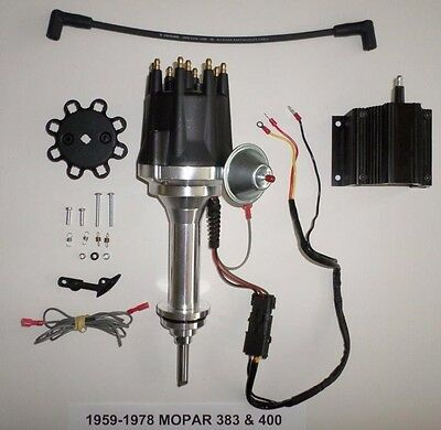 small cap BIG BLOCK MOPAR 1959-78 383 400 PRO SERIES HEI Distributor +Black Coil