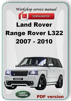 Land Rover Range Rover L322  2006 2007 2008 2009 2010 Factory service manual