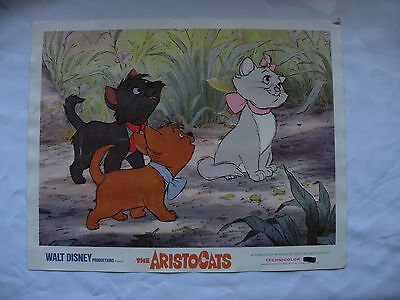 Walt Disney the Aristocats 1970 lobby card 2 movie 11X14