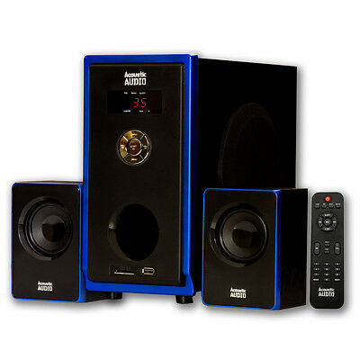 Acoustic Audio AA2102 Home 2.1 Speaker System with USB for Multimedia / Computer