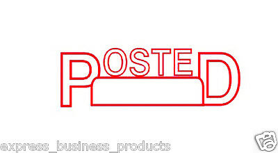 "Deskmate Pre Inked Office Stamp ""POSTED"" Red - JA0273620"