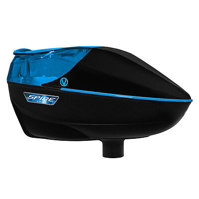 Virtue Spire 260 Electronic Paintball Loader - Black / Cyan