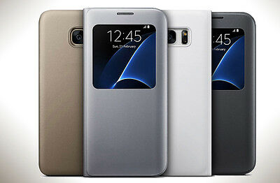 New Smart S-view Flip Case Cover For Samsung Galaxy S7 & S7 Edge