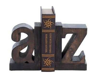 Benzara Set of 2 Sturdy Wood Book End w/Robust Design- 14413 Book End NEW