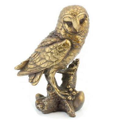Owl Ornament Bird Figure Statue Bronze Gift Mantel Piece Animal Figurine Home