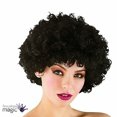 Adults Funky 70s 80s Disco Pop Perm Afro Wig Curly Scouser Fancy Dress Accessory