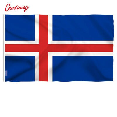 ICELAND FLAG EUROPEAN FLAGS NEW ICELANDIC Festival decor 90x150cm outdoor