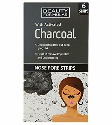 ** Beauty Formulas 6 Cleansing Nose Pore Strips Purifying Charcoal New **