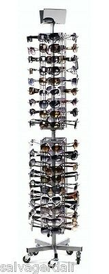 Economy Eyewear Display Sunglasses Rack Floor Spinner Retail Fixture 72 Pair NEW