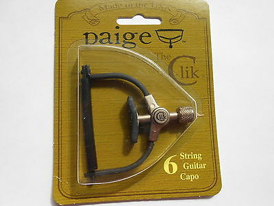 Paige PC6 PC 6 The Clik 6 string Acoustic or Electric Guitar capo PC-6-2.062-R