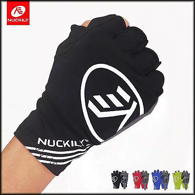 Nuckily Cycling Gloves Bicycle Bike Half Finger Anti Skid Silicone Gloves