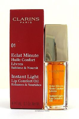Clarins Instant Light Lip Comfort Oil  Shade 01 Honey 7ml BNIB