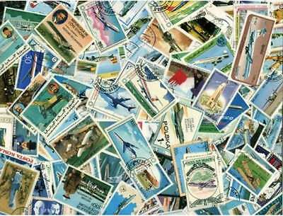 Aviation on Stamps Collection - 300 Different Stamps
