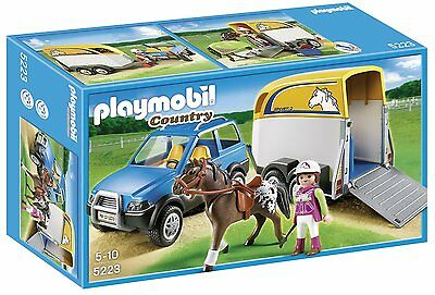 Playmobil SUV with Horse Trailer 5223