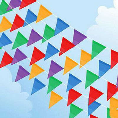 40 M/120 Fabric Flags Multicolor Bunting Banners Wedding Home Party Decora Hot