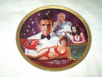 Franklin Mint Collector's Plate James Bond Diamonds Are Forever
