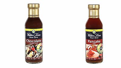 Walden Farms Low Calorie Syrup 355ml (Pack of 2) Chocolate/Pancake.
