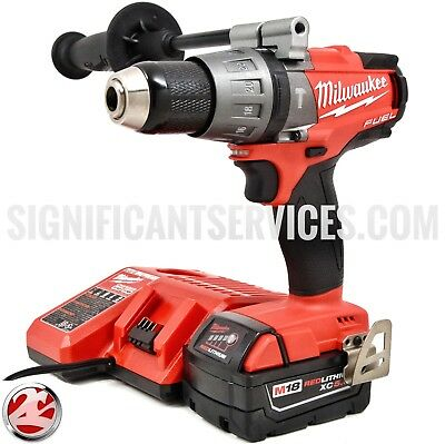 MILWAUKEE 2704-20 CORDLESS 18V M18 FUEL LITHIUM-ION 5.0 Ah HAMMER DRILL KIT