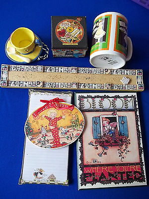 Lot Of Mary Engelbreit  Decorative  Mug Christmas ornament Plaque etc