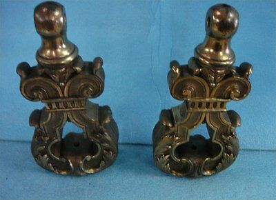 """Antique Solid Brass Gate Decor From European Estate 12"""" X 6"""" And 18 Lbs. Each"""