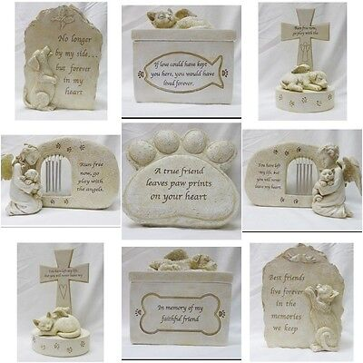 Cat / Dog with Angel Wings Pet Memorial Figurine Ornament Gifts for Remembrance