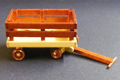1:12th Scale Wooden Trolley Dolls House Miniature Nursery Accessory Toy