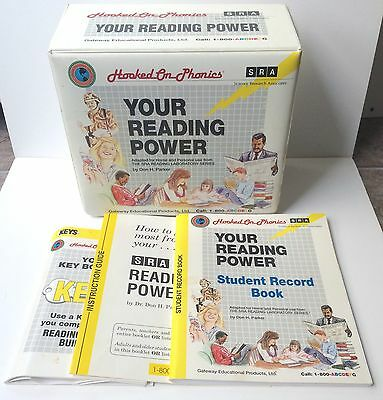 Vintage Hooked On Phonics Your Reading Power SRA 1992 BOOKS AND CASSETTES