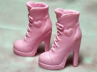 Barbie pink boots One(1) pair: pink high heel boots