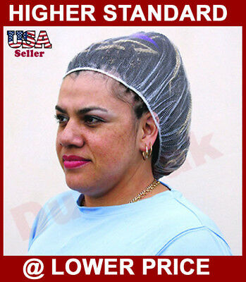 "1000 pieces White Nylon Hairnet Size 18"" to 26"" Cover Hair for Food Industry"