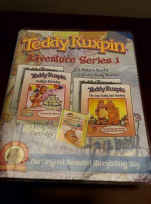 Rare Sealed Teddy Ruxpin Adventure Series 1 Cartridge And Books Have Others See