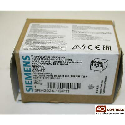 Siemens 3RH2924-1GP11 Coupl. Link F.Direct Coil Connection, 1NO - New Surplus...