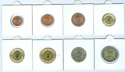Malta Euro coin set 2008 1 Cents to ( mint state