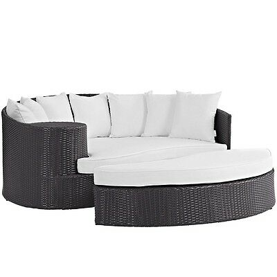 Modway Furniture EEI-2176-EXP-WHI Convene Outdoor Patio Daybed, Espresso White