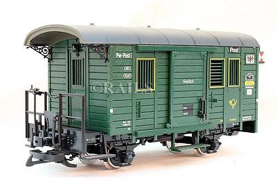 Lgb G Gauge 32190 Green Mail Coach With Lights