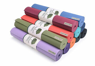 "Jade Yoga 68"" Travel Eco Friendly Yoga Pilates Exercise Fitness Mat Standard 3mm"