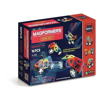 Magformers WOW Vehicle 16 Pieces Educational Shapes 3D Brain Development Magneti